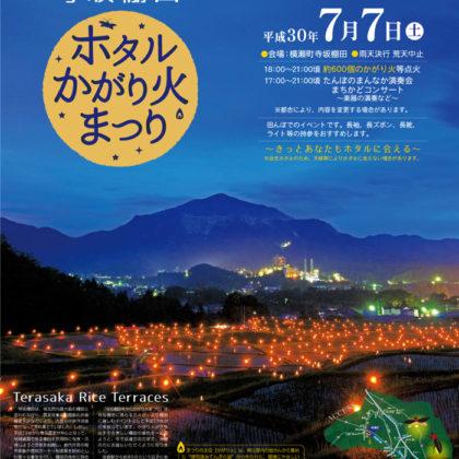 横瀬町寺坂棚田ホタルかがり火まつりのポスター